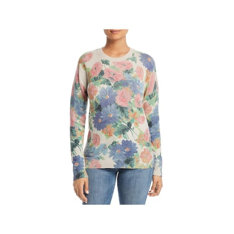 Private Label Womens Sweater Cashmere Floral - Hemp Combo - S
