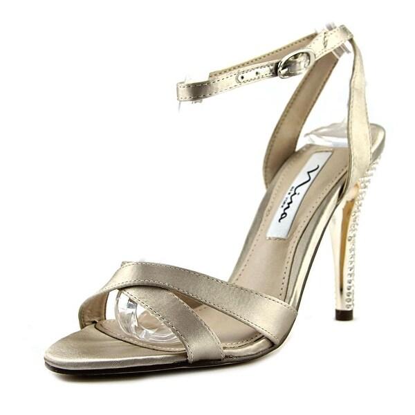 Nina Meryly Women Open Toe Canvas Gold Sandals