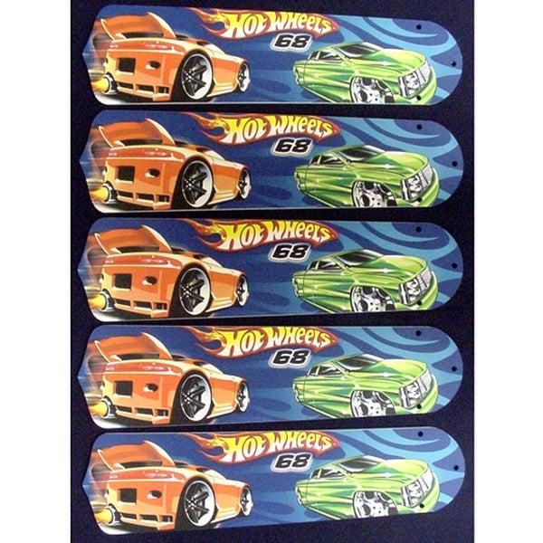Hot Wheels Custom Designer 52in Ceiling Fan Blades Set - Multi