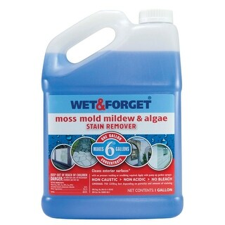 Wet & Forget 800006 Moss Mold & Mildew Stain Remover, Concentrate, 1 Gallon