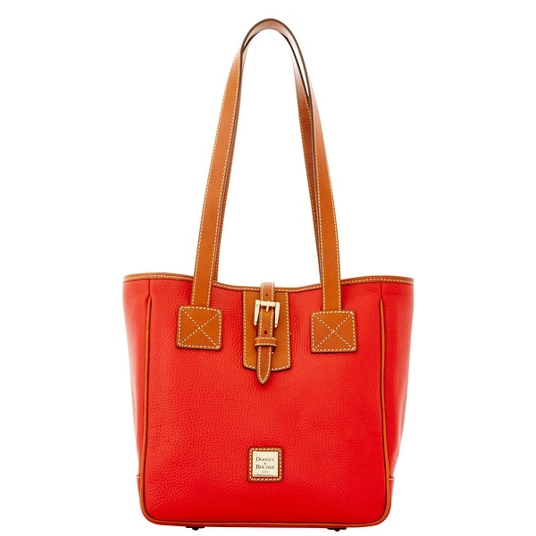 Dooney & Bourke Pebble Grain Medium Shopping Tote (Introduced by Dooney & Bourke at $268 in Aug 2015) - Red