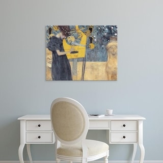 Easy Art Prints Gustav Klimt's 'The Music' Premium Canvas Art