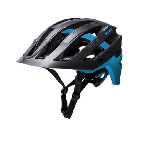Kali Protectives Bike Helmet Interceptor Dual (Matte Black/Blue, S/M)