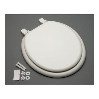 Proflo PFTSWE1000 Round Closed-Front Toilet Seat and Lid