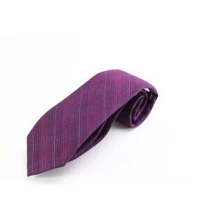 Calvin Klein NEW Purple Striped Ramage Plaid Men's Neck Tie Accessory