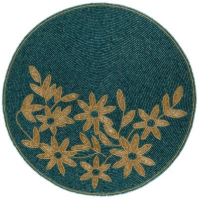 """15"""" Glass Beaded Placemat by KINDWER - 15 inch"""