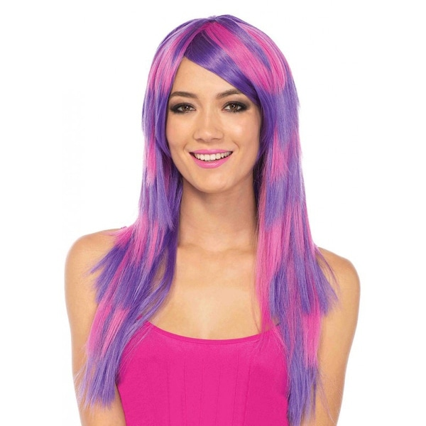 Alice in Wonderland Cheshire Cat Layered Two Tone Wig