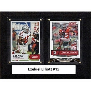 C I Collectables 68ELLIOTTCO 6 X 8 In Ezekiel Elliott NCAA Ohio State Buckeyes Two Card Plaque