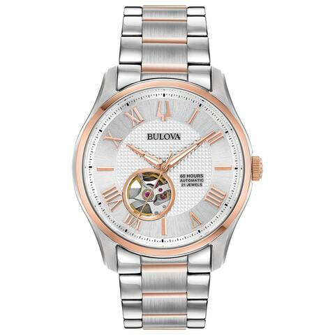 Bulova Men's 98A213 Two-tone Stainless Automatic Bracelet Watch