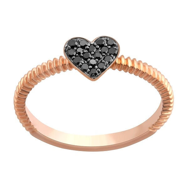 Prism Jewel Round Black Diamond Heart Shaped Valentine Ring