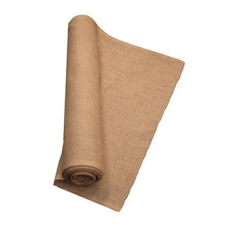LA Linen 10 Yards Burlap Fabric, Natural - 60 in.