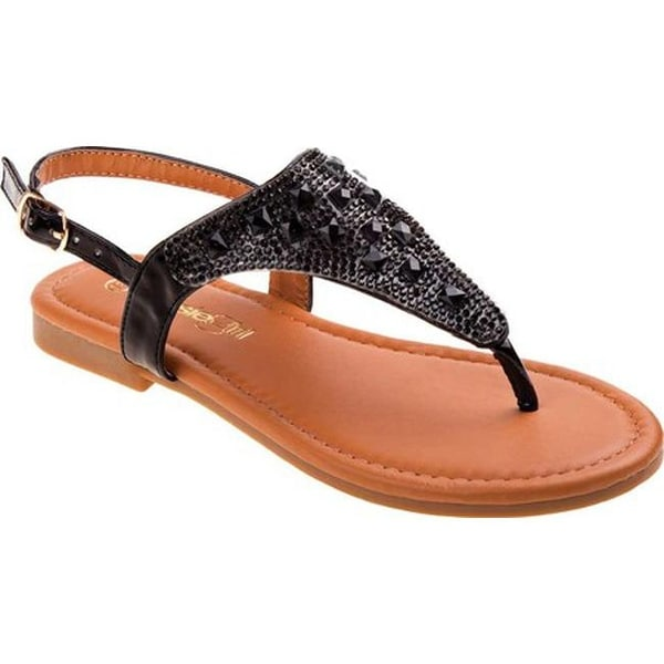 21ebcd8d6 Shop Kensie Girl Girls  KG79237M Thong Sandal Black - Free Shipping ...