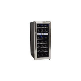 "EdgeStar TWR215E 13"" Wide 21 Bottle Wine Cooler with Dual Cooling Zones - STAINLESS STEEL - N/A"