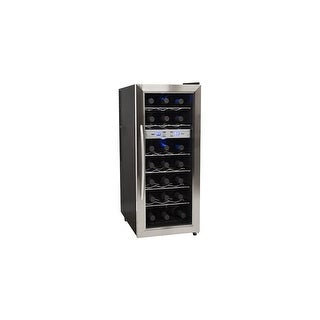 EdgeStar TWR215E 13 Inch Wide 21 Bottle Wine Cooler with Dual Cooling Zones