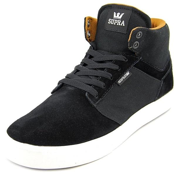 Supra Yorek Hi Men Round Toe Suede Black Sneakers