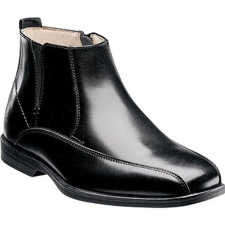 Florsheim Boys' Reveal Chelsea Boot Jr. Black Smooth Leather