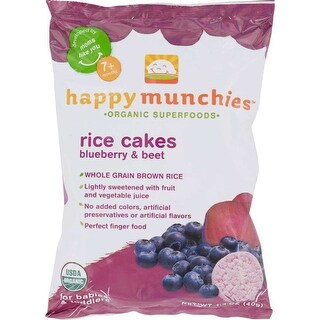 Happy Baby Happy Munchies Rice Cakes, Blueberry and Beet - (Case of 10 - 1.4 oz)