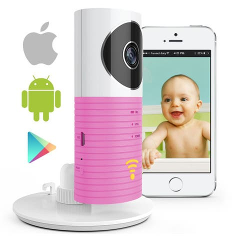 AGPtEK 1080P HD Baby Monitor, Wireless WIFI IP Camera Compatible with iPhone & Android & 2 way Speaker, Pink
