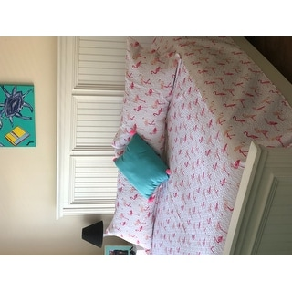 Whimsical Flamingo Print 3-piece Quilt Set