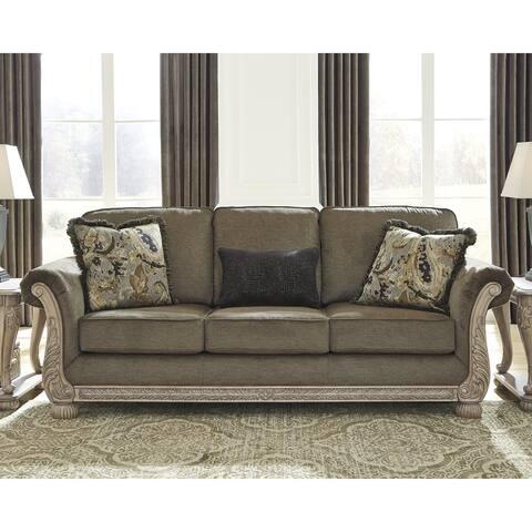 "Richburg Traditional Sofa, Brown - 92""W x 38""D x 39""H"