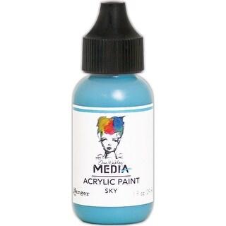 Dina Wakley Media Heavy Body Acrylic Paint 1Oz-Sky
