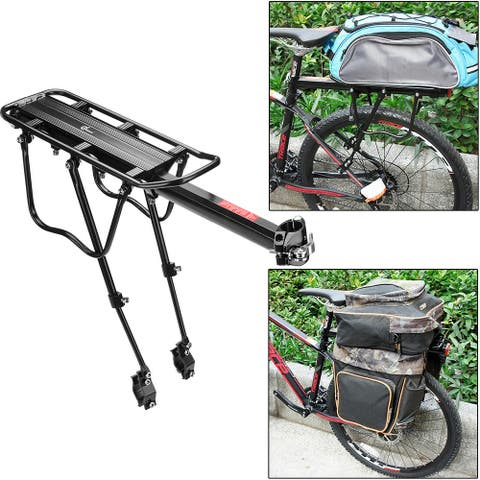 Odoland 110 lbs Capacity Adjustable Rear Bike Rack Carrier Luggage Cargo Bicycle Accessories