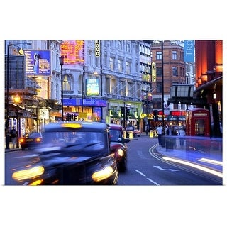 """""""Taxi in motion, London"""" Poster Print"""