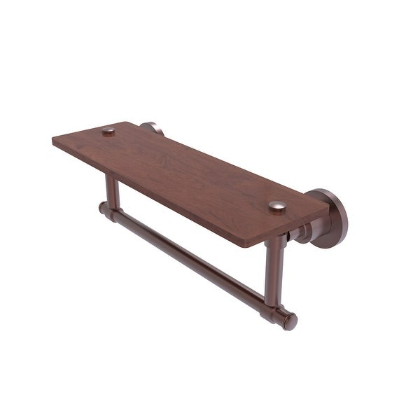 Allied Brass Washington Square Collection hardwood Shelf with Integrated Towel Bar
