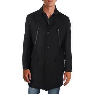 MICHAEL Michael Kors Mens Car Coat Wool Water Resistant