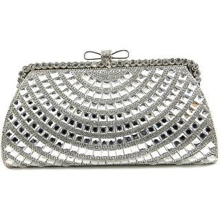Lulu Townsend Skylar Women   Synthetic  Evening Bag - Silver