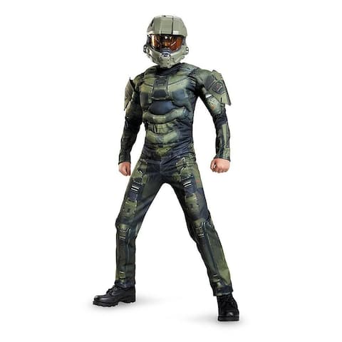 Halo Master Chief Classic Muscle Costume Child - Green