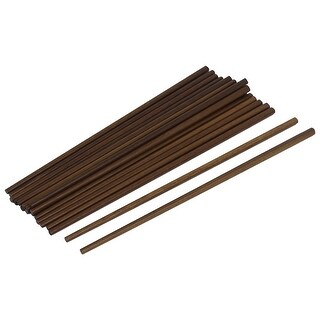 Unique Bargains 10 Pairs Reusable Chinese Wooden Chopsticks Kitchen Cutlery Gift