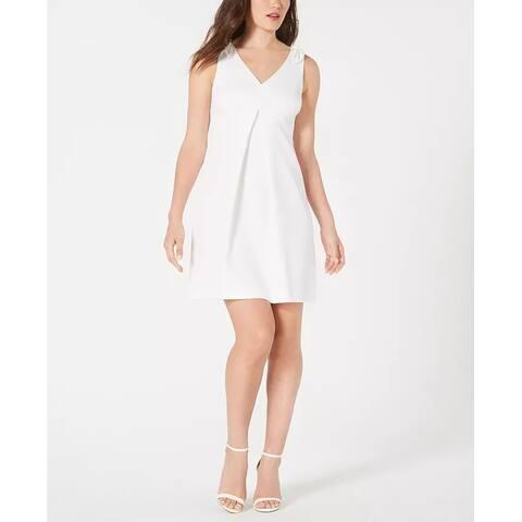 Trina Trina Turk Women's Pleated A Line Dress White Size 4