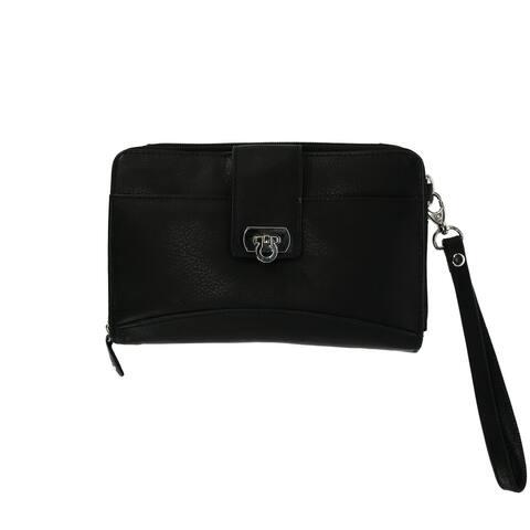 Bacci Women's Zip Around Wristlet with Detachable Strap - one size