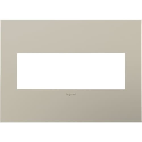 Legrand AWC3GSN4 adorne 3 Gang Metal Wall Plate - 6.56 Inches Wide