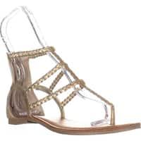 AR35-Adora Zippered Glitter Sandals, Gold - 8 us