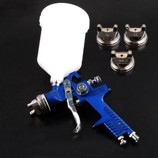 Air Paint Spray Gun HVLP1.4 1.7 2.0MM Sprayer Gravity Auto Painting - Blue/M - M