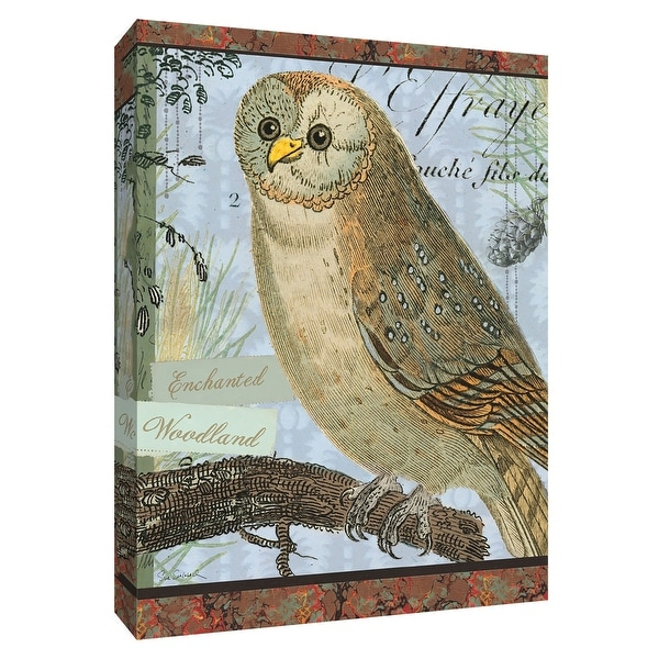 "PTM Images 9-154939 PTM Canvas Collection 10"" x 8"" - ""Enchanted Woodland"" Giclee Owls Art Print on Canvas"