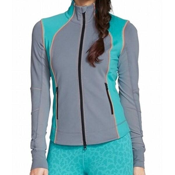Zella NEW Gray Silver Slate Women Size Medium M Active Full-Zip Jacket