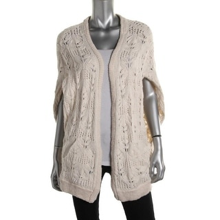 Free People Womens Angora Blend Loose Knit Cardigan Sweater - S