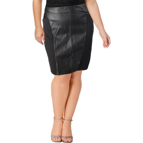 88c6bc812e Shop Junarose Womens Plus Pencil Skirt Faux Leather Knee-Length - 2X - Free  Shipping On Orders Over $45 - Overstock - 22885193