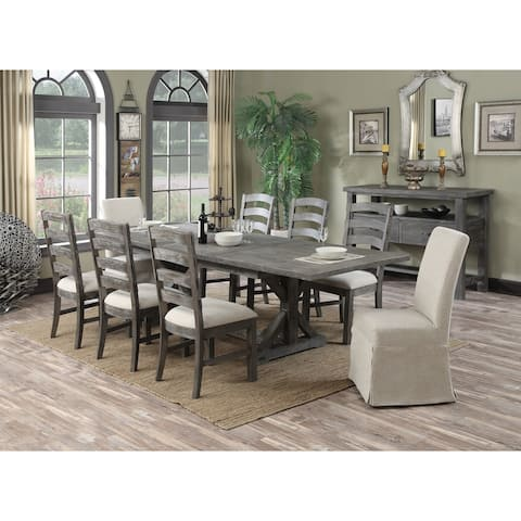 The Gray Barn Snowshill 11-piece Rustic Dining Room Set