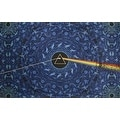 Handmade Cotton 3D Pink Floyd Dark Side of Moon Tapestry Tablecloth Spread 60x90 in 5 Colors - Green Blue Black Grey Purple - Thumbnail 1