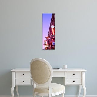 Easy Art Prints Panoramic Images's 'Neon signs at dusk, Nashville, Tennessee, USA' Premium Canvas Art