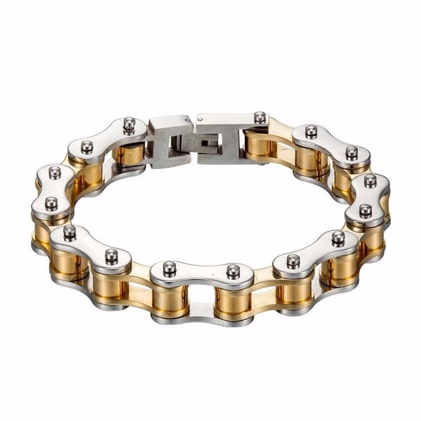 New Custom Made Motorbike Chain Bracelet For Ladies Stainless Steel Gold White Bikers Motorcycle New