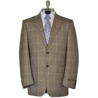 Joseph Abboud Signature Brown Wool Sportcoat 38 Regular 38R Plaid Blazer