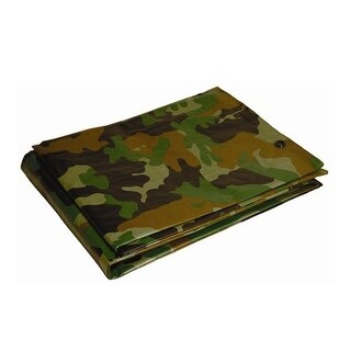 Foremost 40810 Dry Top Camouflage Tarp, Polyethylene, 7 Mil Thick