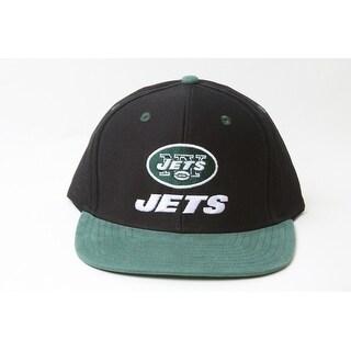 New Reebok NFL New York Jets Script Logo Snapback Hat- Black and Green