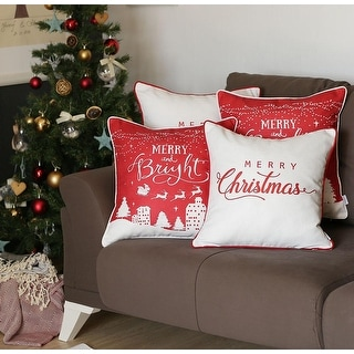 """Link to Merry Christmas Throw Pillow Covers Christmas Gift 18""""x18"""" (Set of 4) Similar Items in Decorative Accessories"""