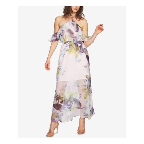 CECE Purple Short Sleeve Full-Length Dress 6